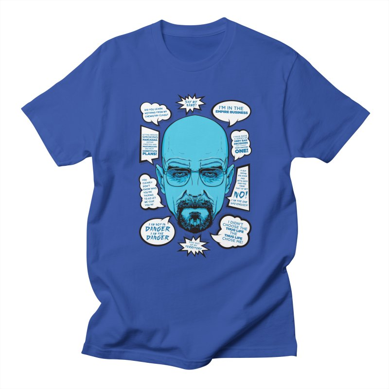 Heisenberg Quotes Men's Regular T-Shirt by Andreas Leonidou's Artist Shop