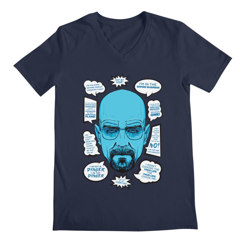 Heisenberg Quotes Men's V-Neck by Andreas Leonidou's Artist Shop