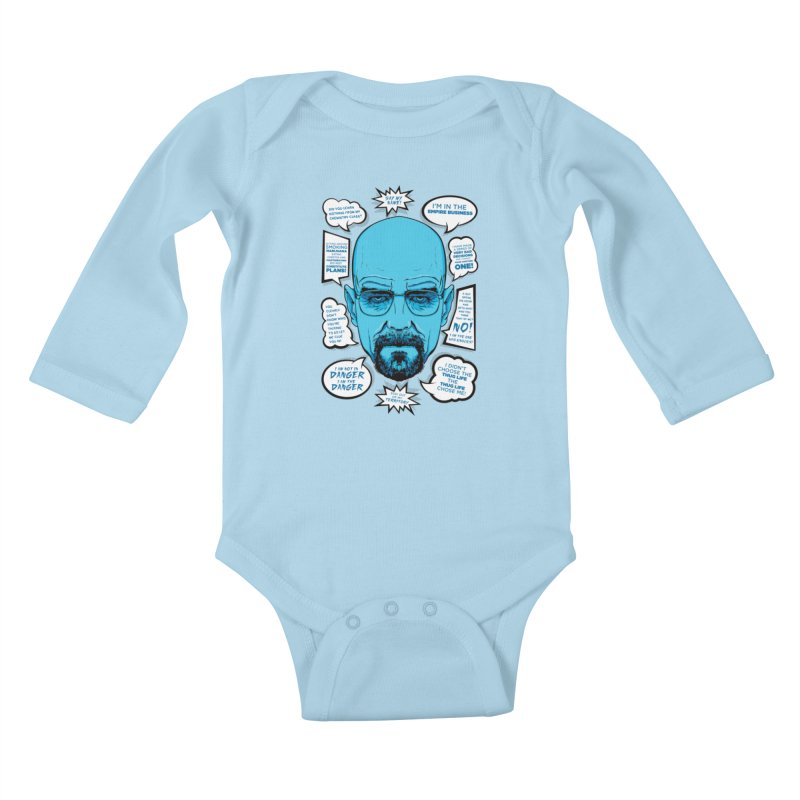Heisenberg Quotes Kids Baby Longsleeve Bodysuit by Andreas Leonidou's Artist Shop