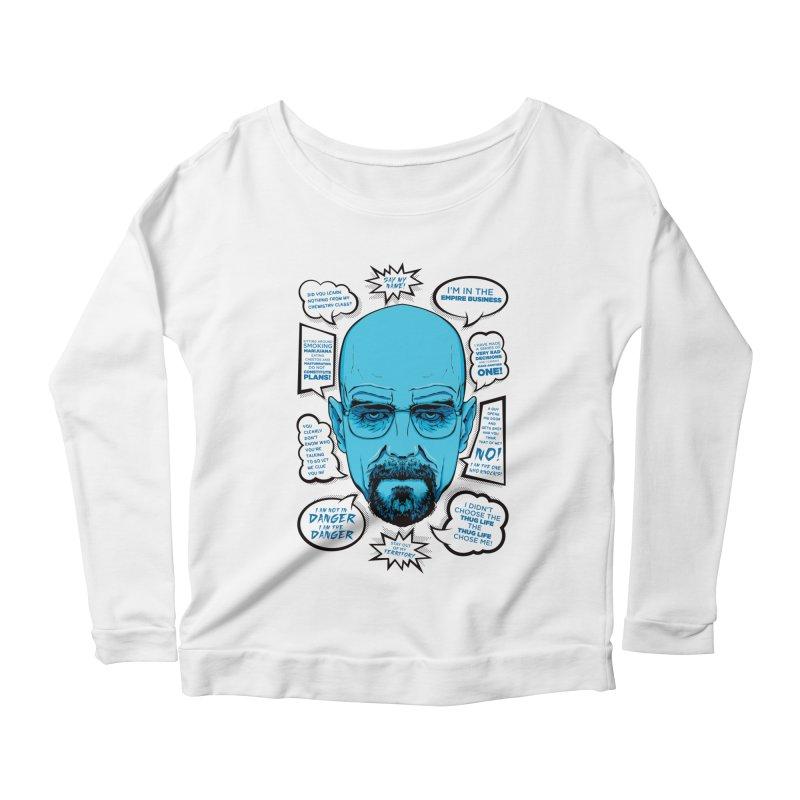 Heisenberg Quotes Women's Scoop Neck Longsleeve T-Shirt by Andreas Leonidou's Artist Shop