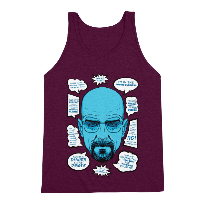 Heisenberg Quotes Men's Triblend Tank by Andreas Leonidou's Artist Shop