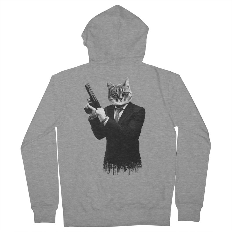 Cat! Pussy Cat Men's Zip-Up Hoody by Andreas Leonidou's Artist Shop