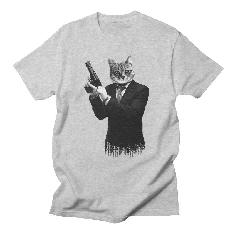 Cat! Pussy Cat Men's Regular T-Shirt by Andreas Leonidou's Artist Shop