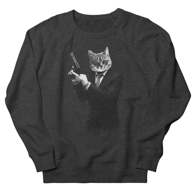 Cat! Pussy Cat Women's French Terry Sweatshirt by Andreas Leonidou's Artist Shop