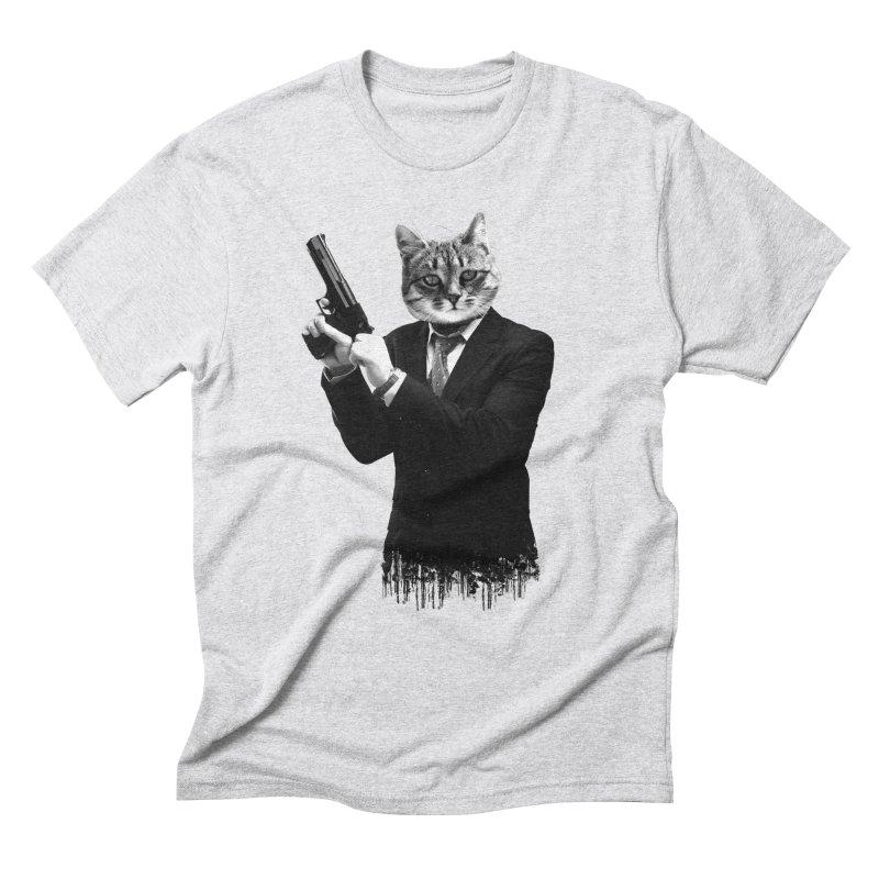 Cat! Pussy Cat Men's Triblend T-Shirt by Andreas Leonidou's Artist Shop