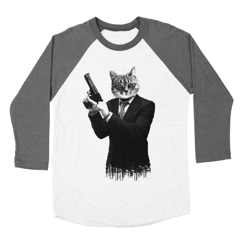 Cat! Pussy Cat Men's Baseball Triblend T-Shirt by Andreas Leonidou's Artist Shop