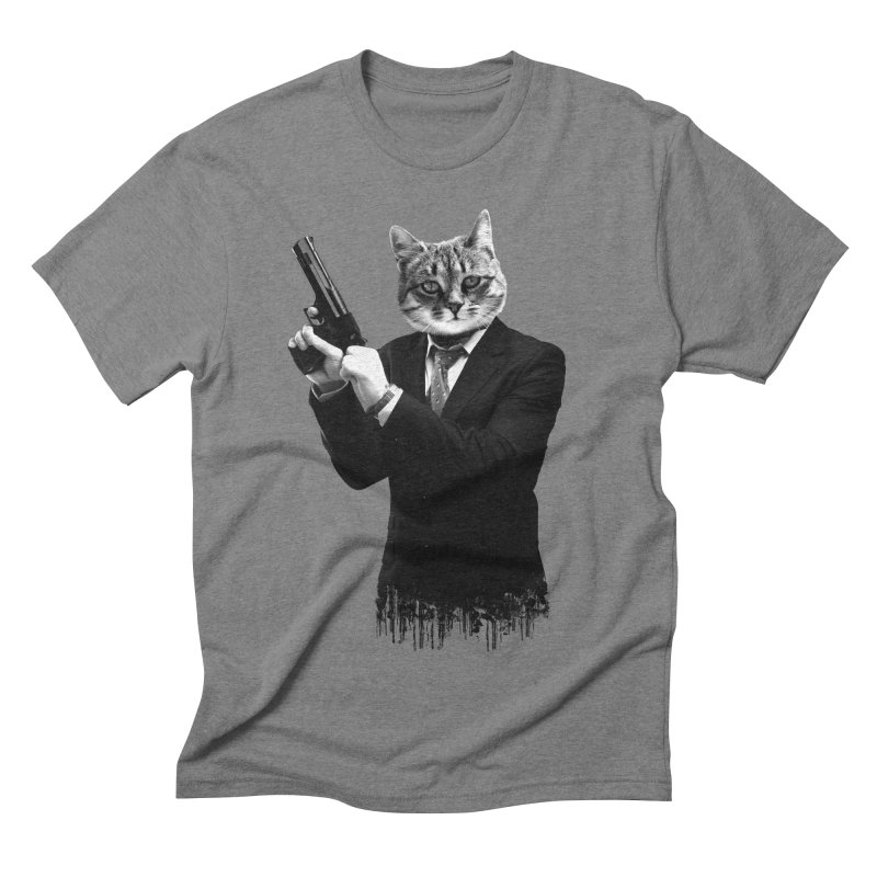 Cat! Pussy Cat Men's Triblend T-shirt by Andreas Leonidou's Artist Shop