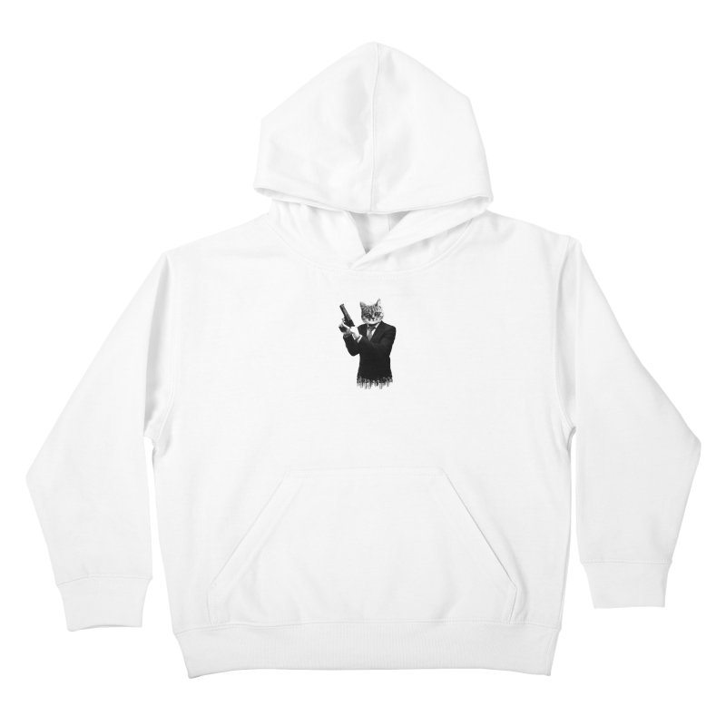 Cat! Pussy Cat Kids Pullover Hoody by Andreas Leonidou's Artist Shop