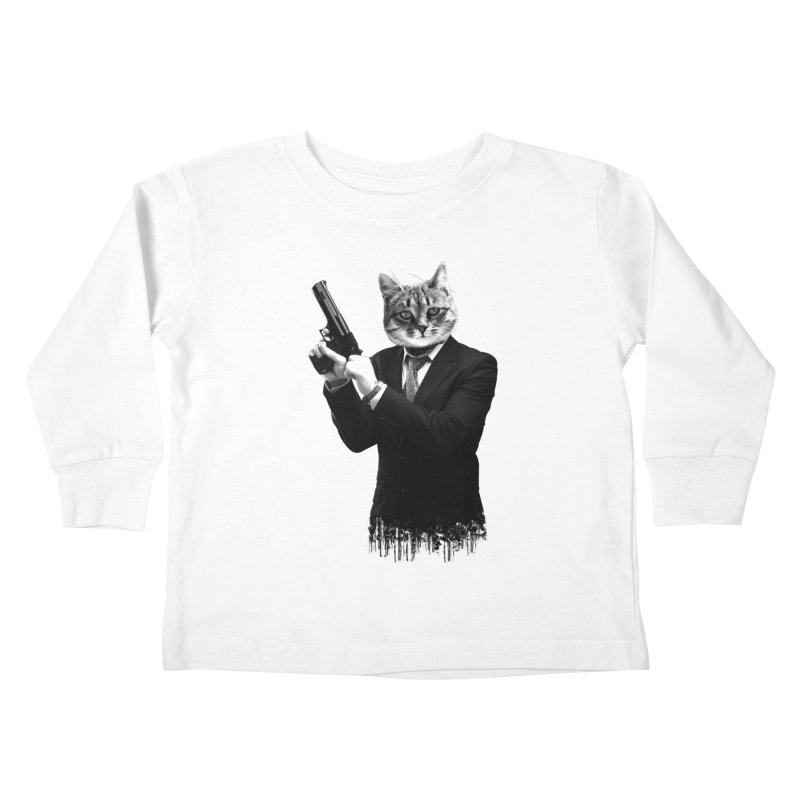 Cat! Pussy Cat Kids Toddler Longsleeve T-Shirt by Andreas Leonidou's Artist Shop