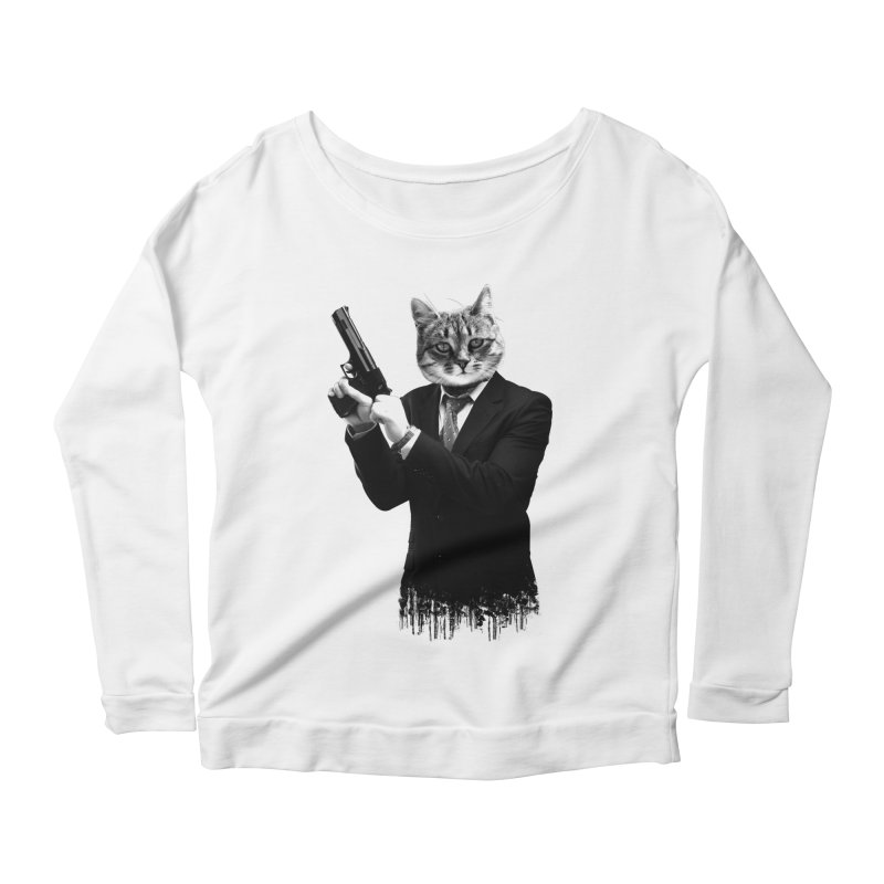 Cat! Pussy Cat Women's Scoop Neck Longsleeve T-Shirt by Andreas Leonidou's Artist Shop