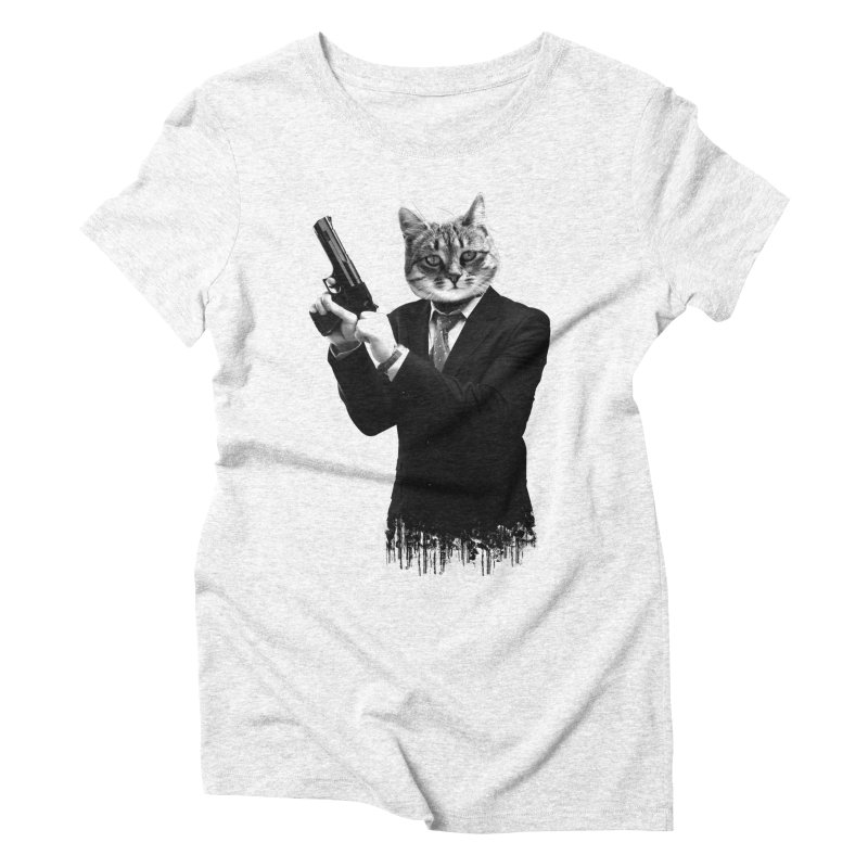 Cat! Pussy Cat Women's Triblend T-shirt by Andreas Leonidou's Artist Shop