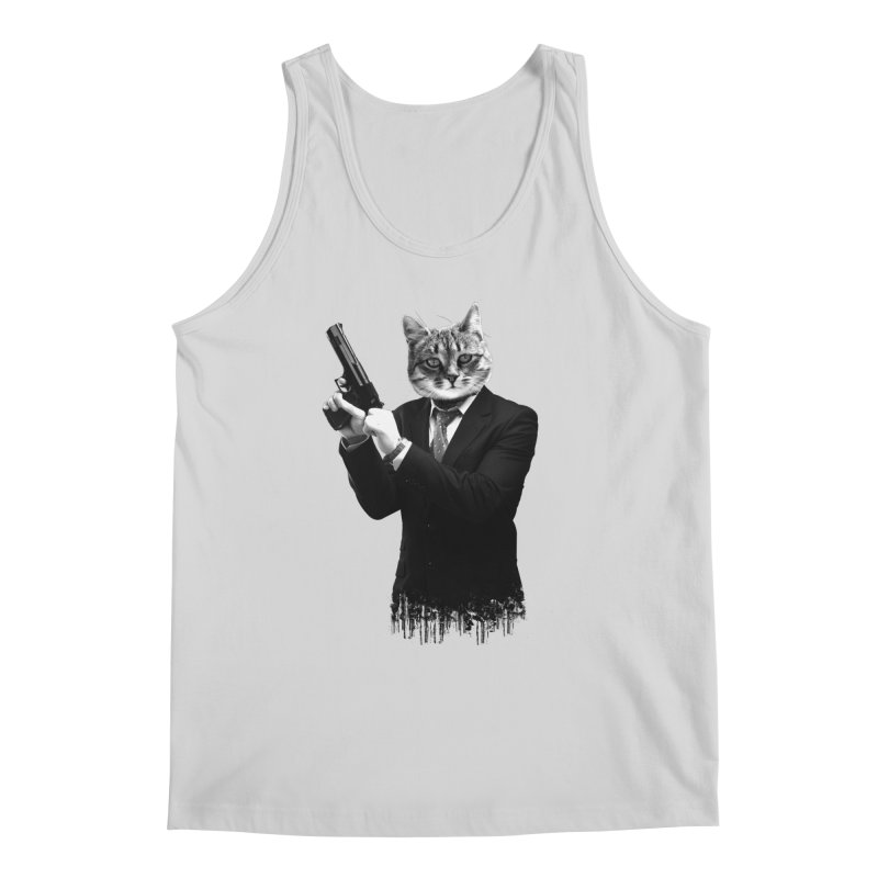 Cat! Pussy Cat Men's Regular Tank by Andreas Leonidou's Artist Shop