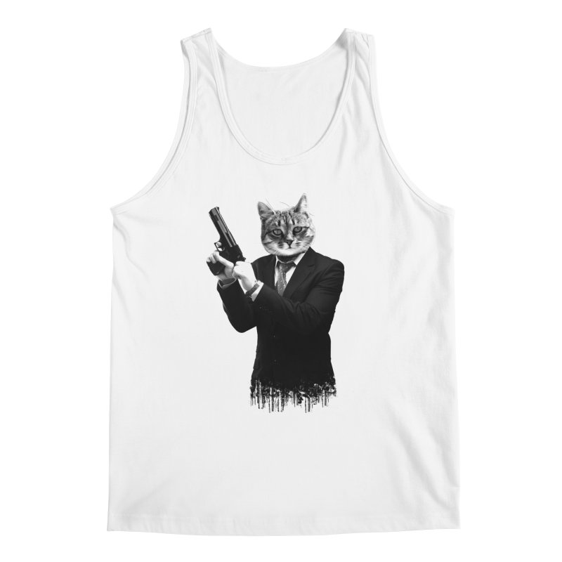 Cat! Pussy Cat Men's Tank by Andreas Leonidou's Artist Shop