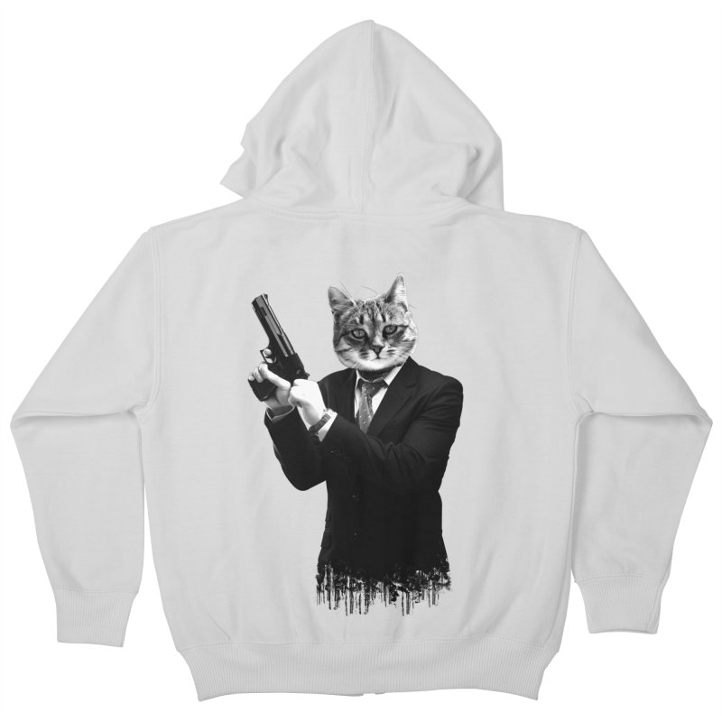 Cat! Pussy Cat Kids Zip-Up Hoody by Andreas Leonidou's Artist Shop