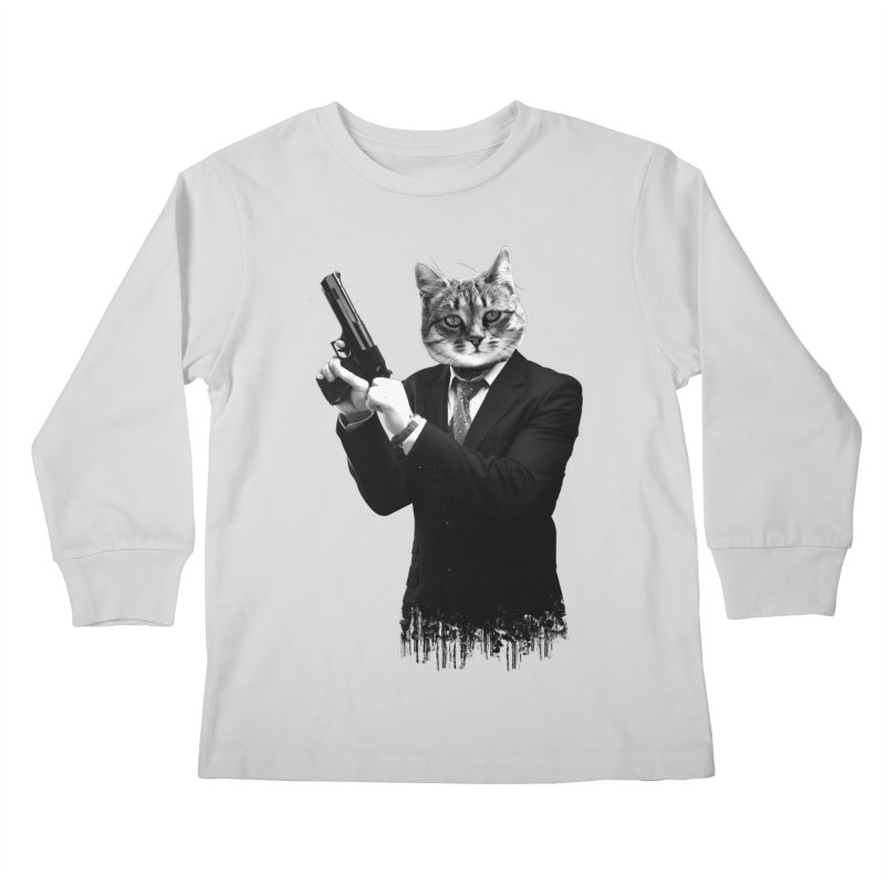 Cat! Pussy Cat Kids Longsleeve T-Shirt by Andreas Leonidou's Artist Shop