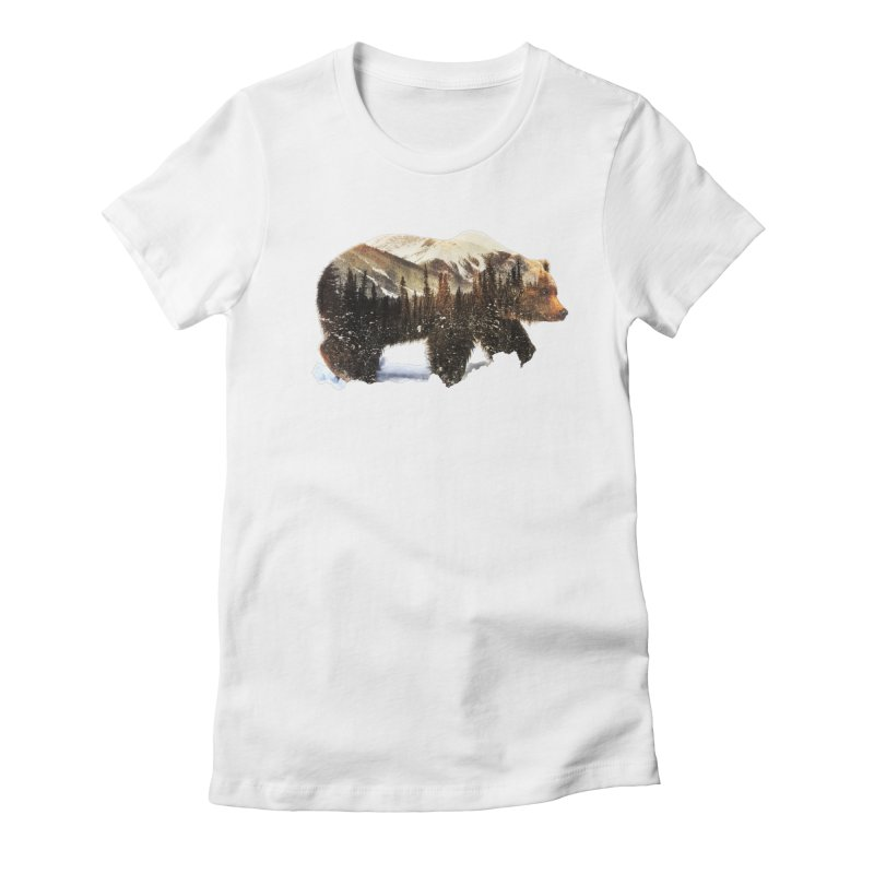 Bear Women's Fitted T-Shirt by Andreas Lie