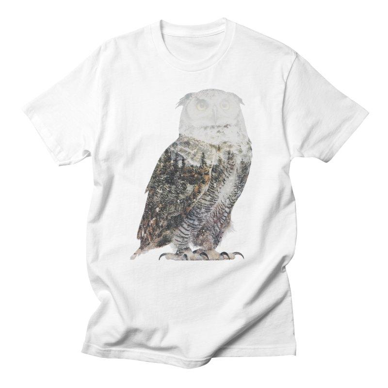 Owl Men's Regular T-Shirt by Andreas Lie