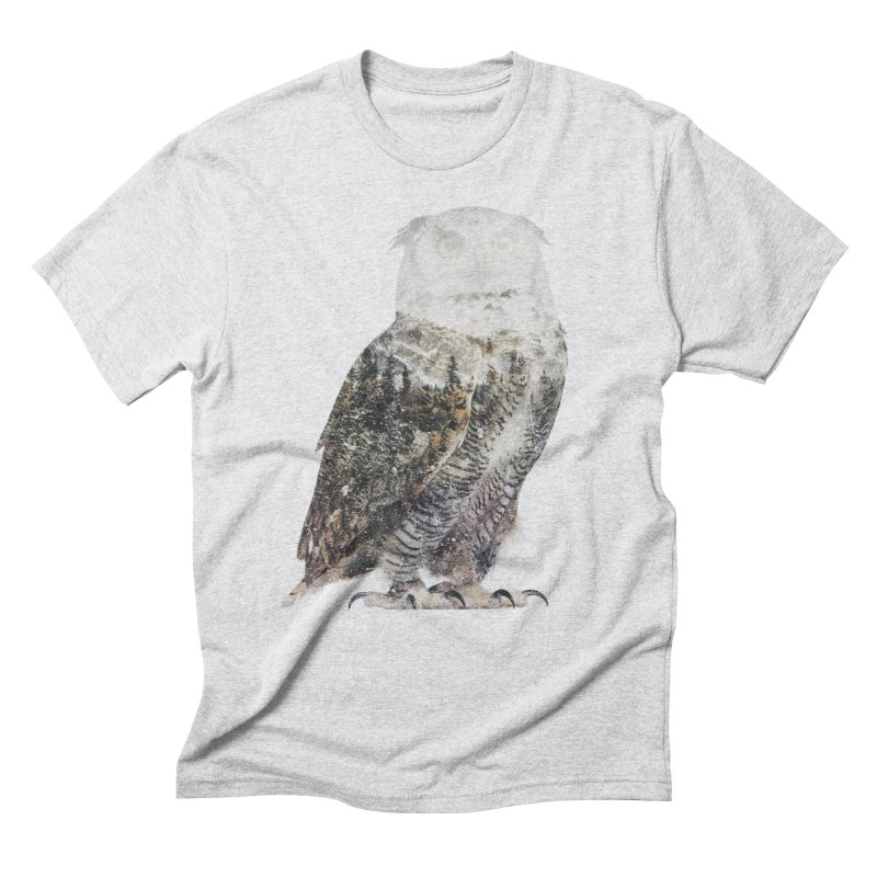 Owl Men's Triblend T-Shirt by Andreas Lie