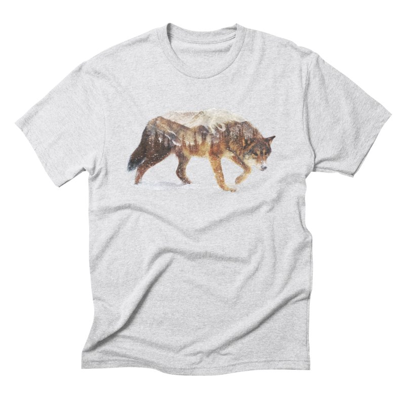 Wolf Men's Triblend T-Shirt by Andreas Lie