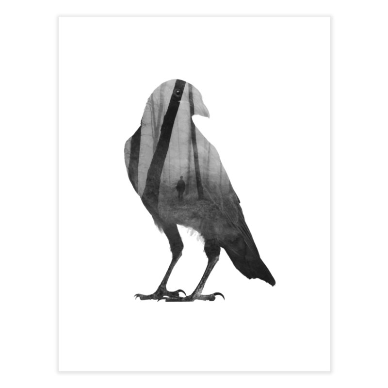 Crow Home Fine Art Print by Andreas Lie