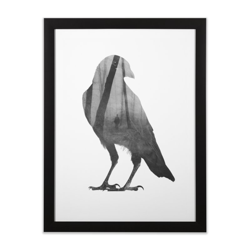 Crow Home Framed Fine Art Print by Andreas Lie