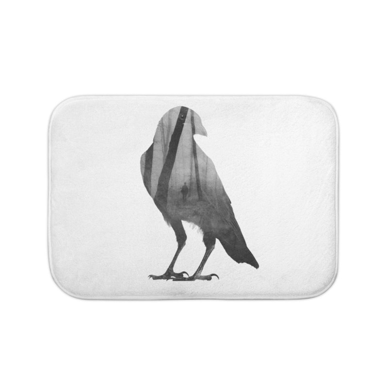 Crow Home Bath Mat by Andreas Lie