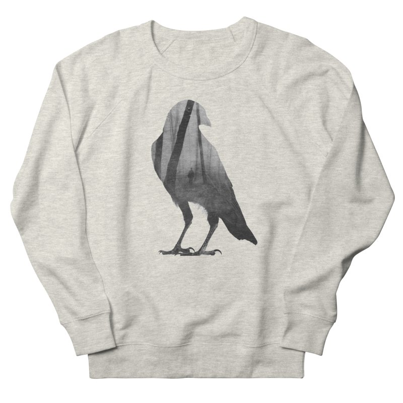 Crow Men's French Terry Sweatshirt by Andreas Lie