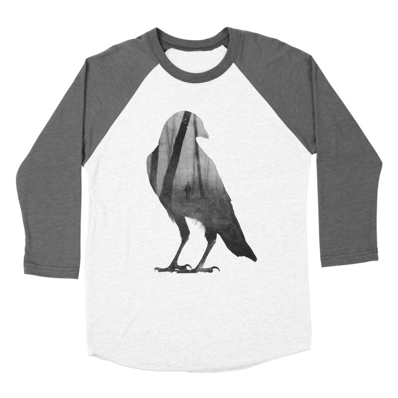 Crow Women's Baseball Triblend T-Shirt by Andreas Lie