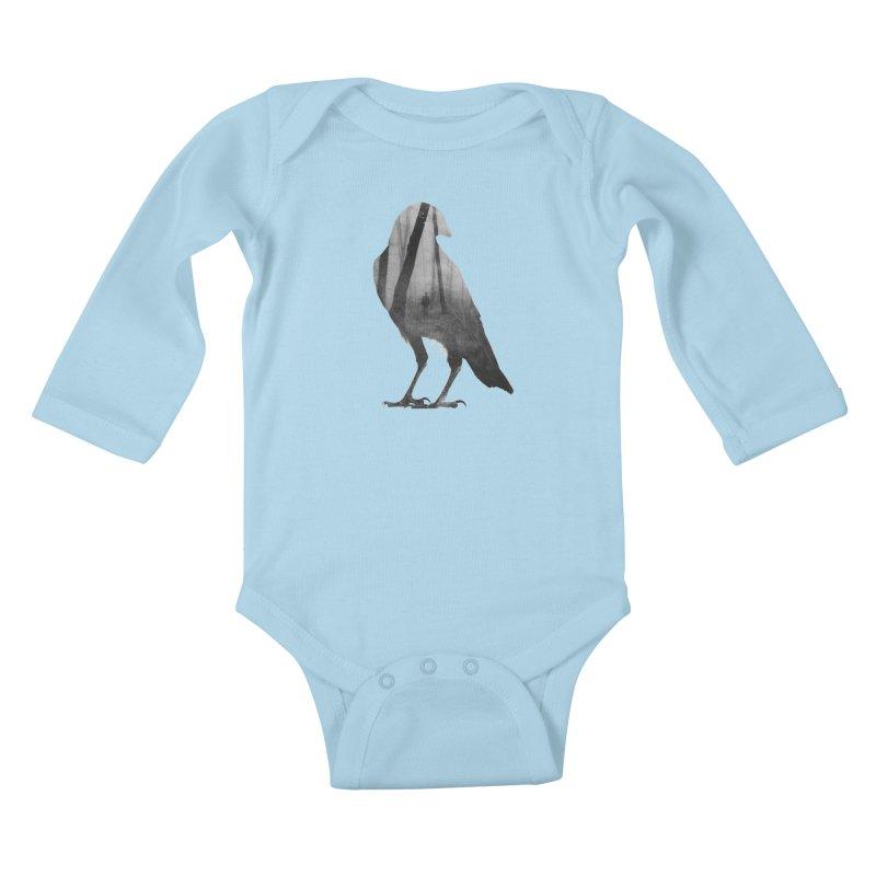 Crow Kids Baby Longsleeve Bodysuit by Andreas Lie