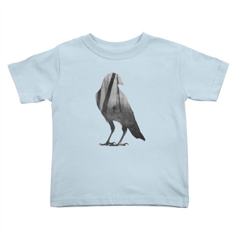 Crow Kids Toddler T-Shirt by Andreas Lie