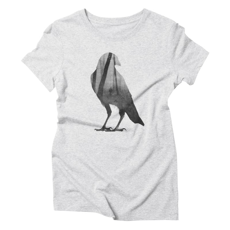 Crow Women's Triblend T-Shirt by Andreas Lie