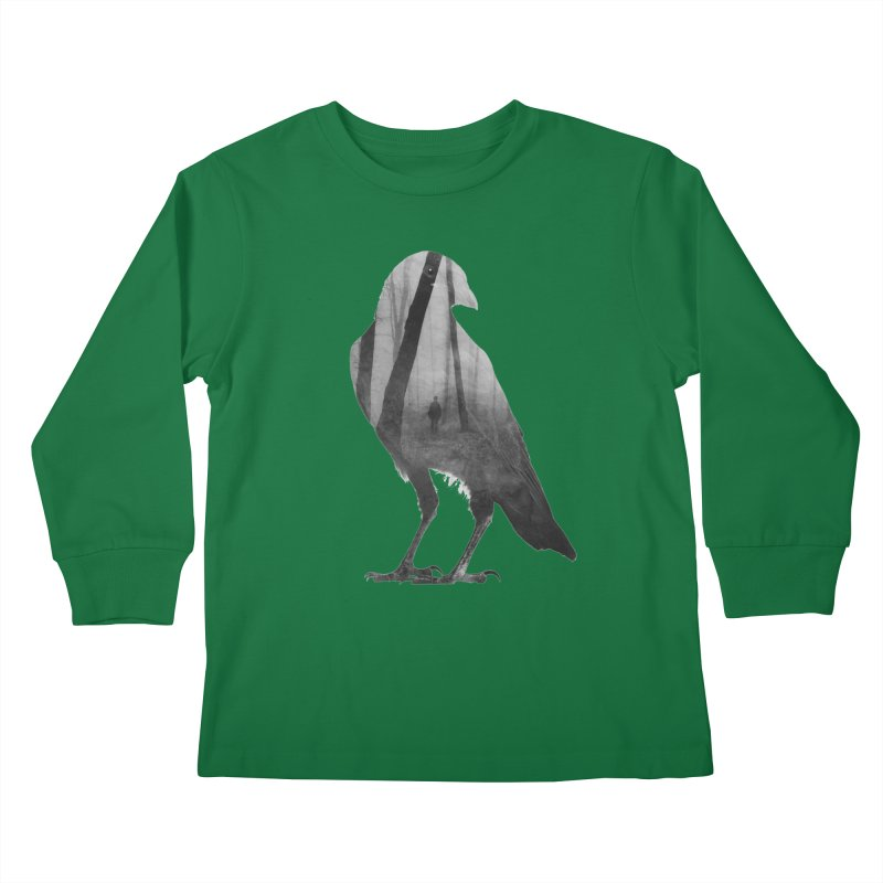 Crow Kids Longsleeve T-Shirt by Andreas Lie