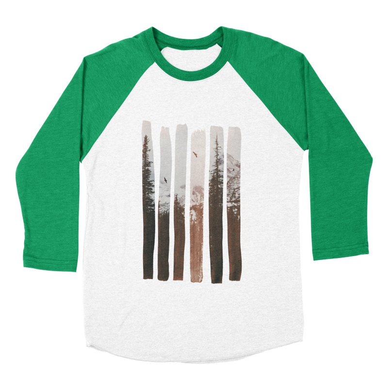 Into The Wild Men's Baseball Triblend Longsleeve T-Shirt by Andreas Lie