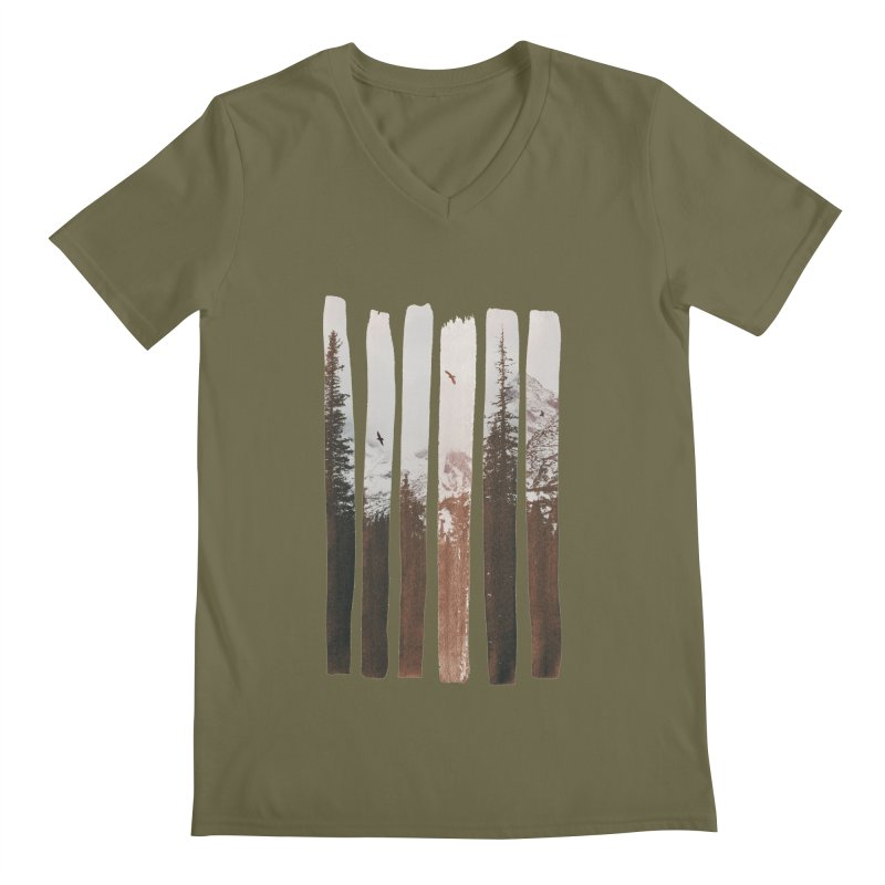 Into The Wild Men's V-Neck by Andreas Lie