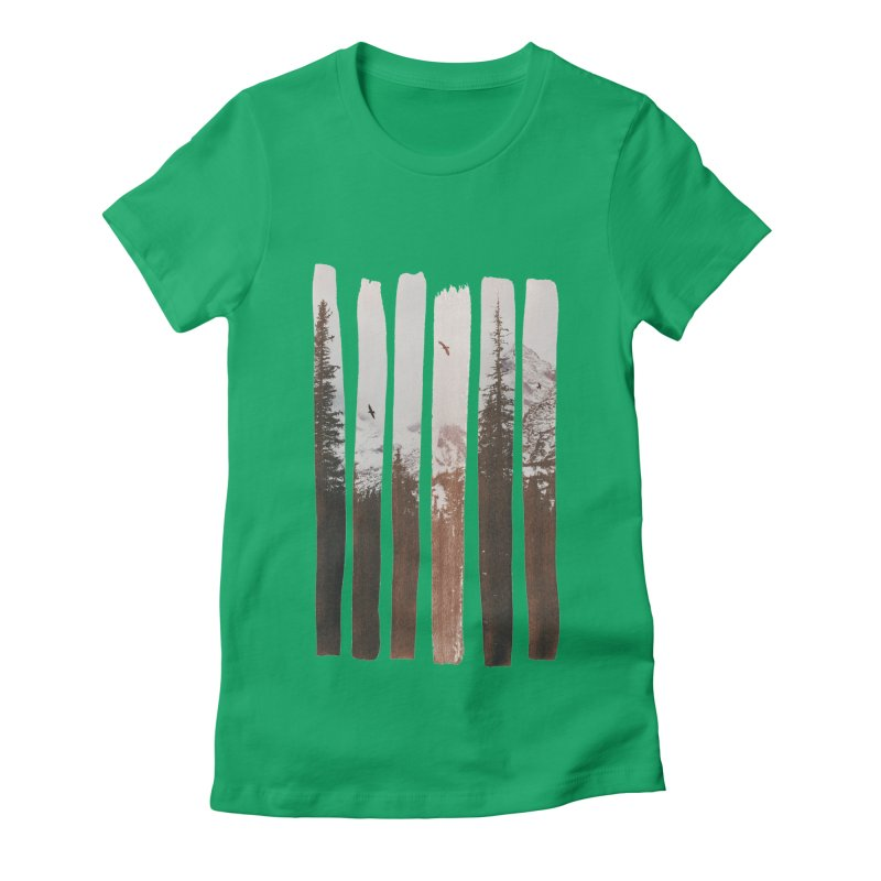 Into The Wild Women's Fitted T-Shirt by Andreas Lie