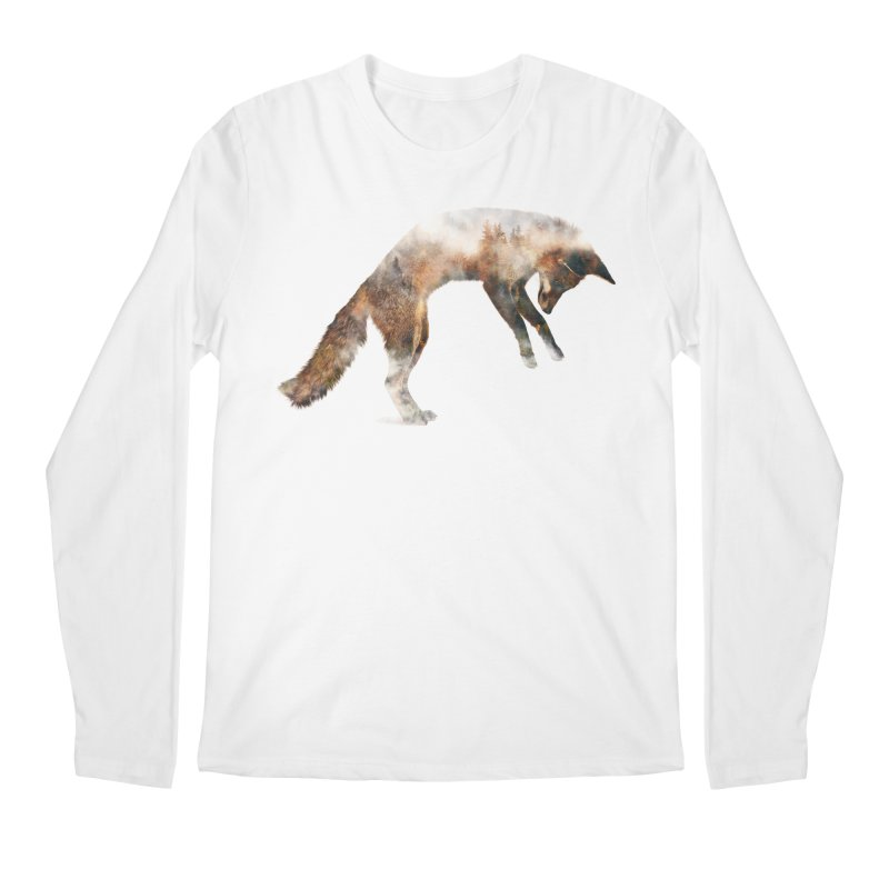 Jumping Fox Men's Longsleeve T-Shirt by Andreas Lie