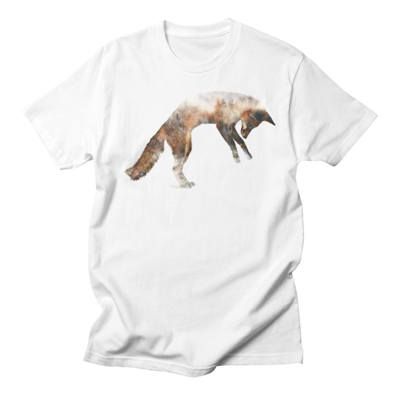 Jumping Fox Women's Regular Unisex T-Shirt by Andreas Lie