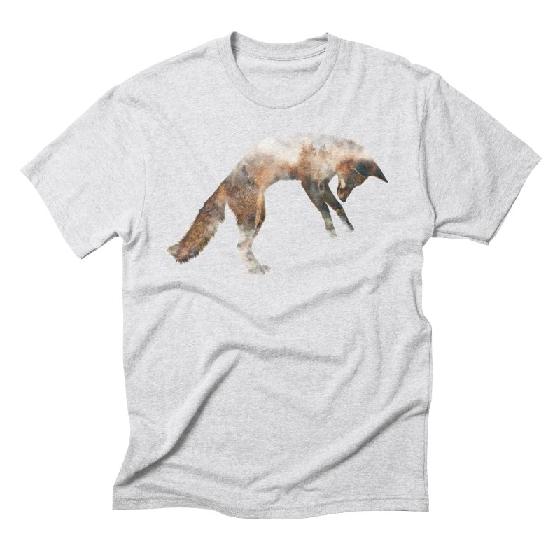 Jumping Fox Men's Triblend T-Shirt by Andreas Lie