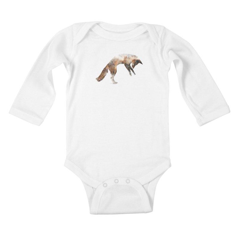 Jumping Fox Kids Baby Longsleeve Bodysuit by Andreas Lie