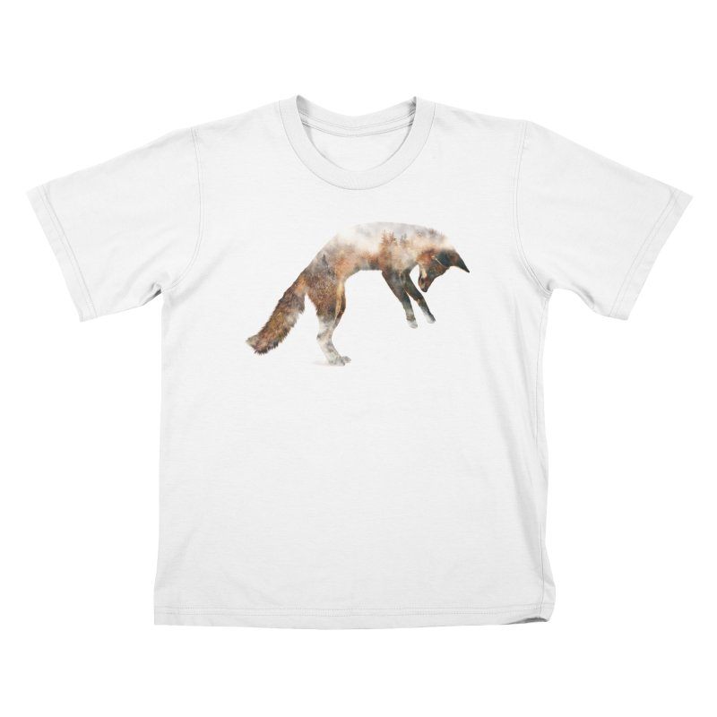 Jumping Fox Kids T-Shirt by Andreas Lie