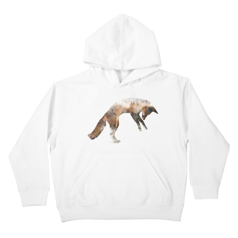 Jumping Fox Kids Pullover Hoody by Andreas Lie