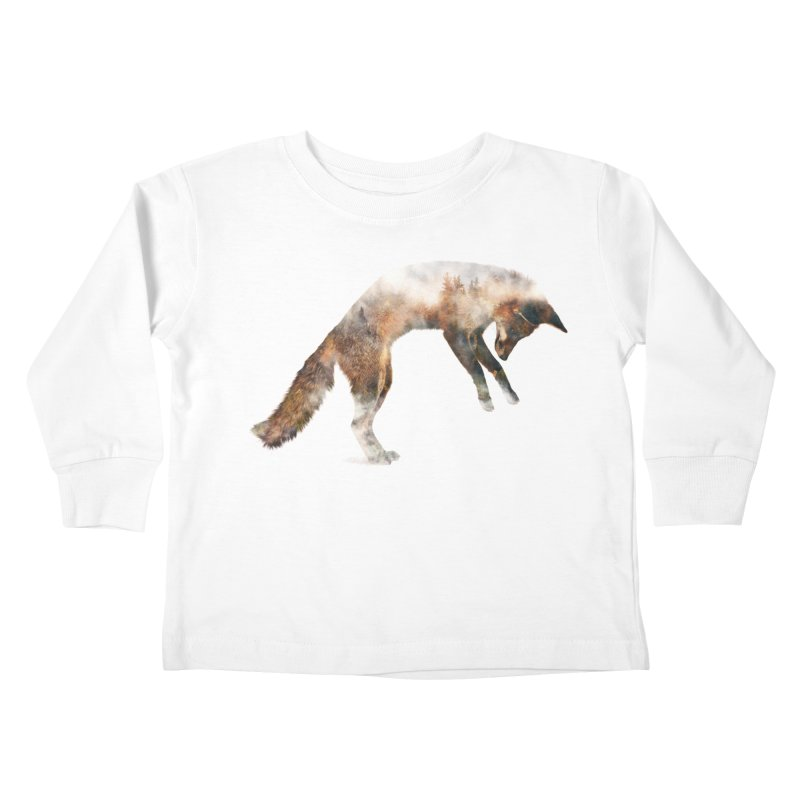 Jumping Fox Kids Toddler Longsleeve T-Shirt by Andreas Lie