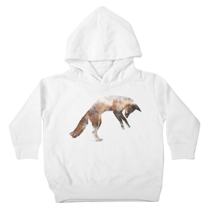 Jumping Fox Kids Toddler Pullover Hoody by Andreas Lie