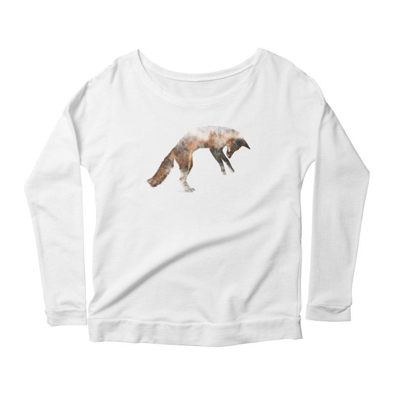 Jumping Fox Women's Scoop Neck Longsleeve T-Shirt by Andreas Lie