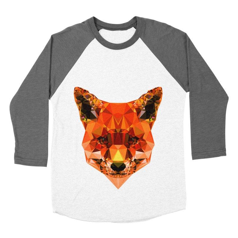 Fox Men's Baseball Triblend Longsleeve T-Shirt by Andreas Lie