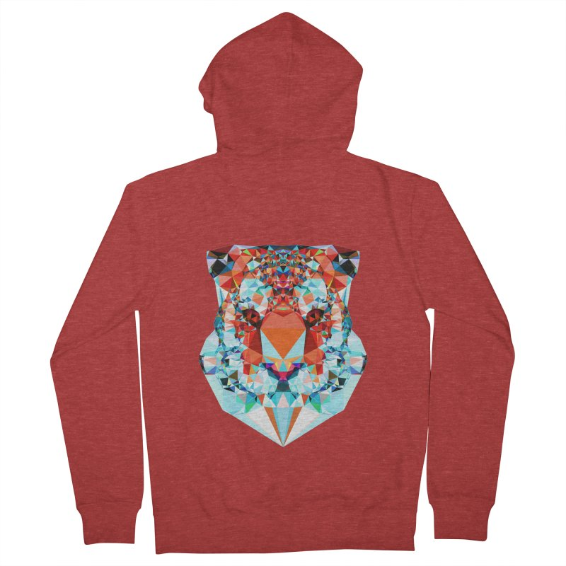 Tiger Men's French Terry Zip-Up Hoody by Andreas Lie