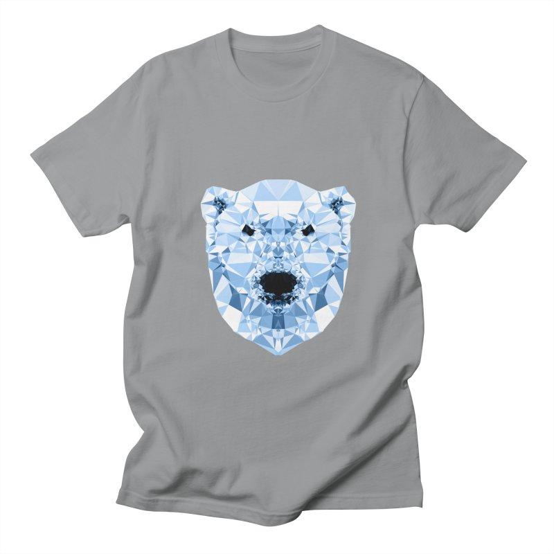 Geometric Polar Bear Men's Regular T-Shirt by Andreas Lie