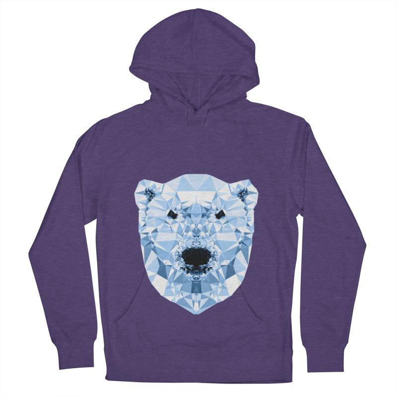 Geometric Polar Bear Women's Pullover Hoody by Andreas Lie