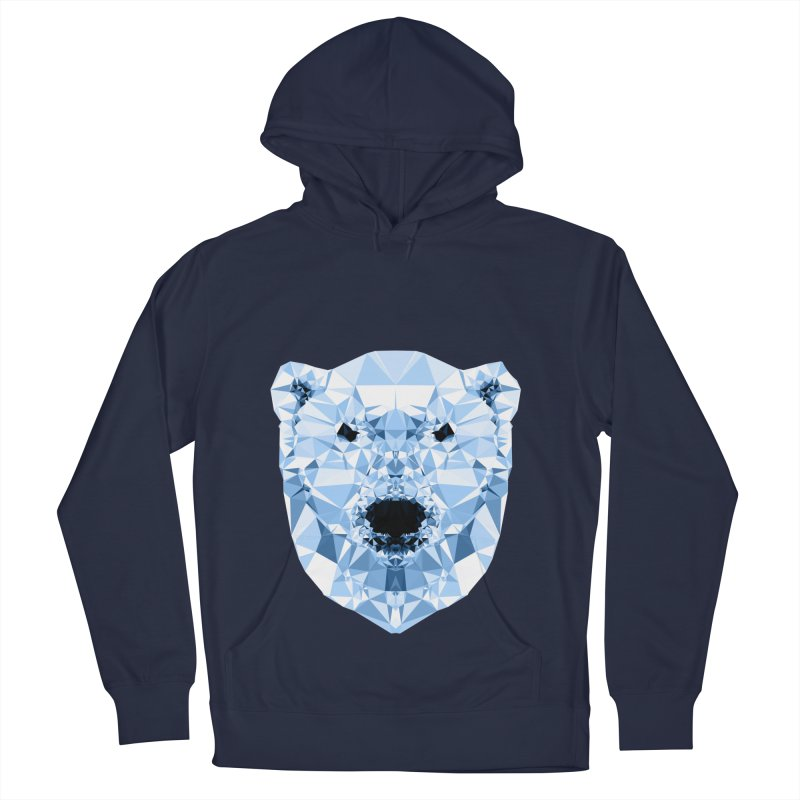 Geometric Polar Bear Women's French Terry Pullover Hoody by Andreas Lie