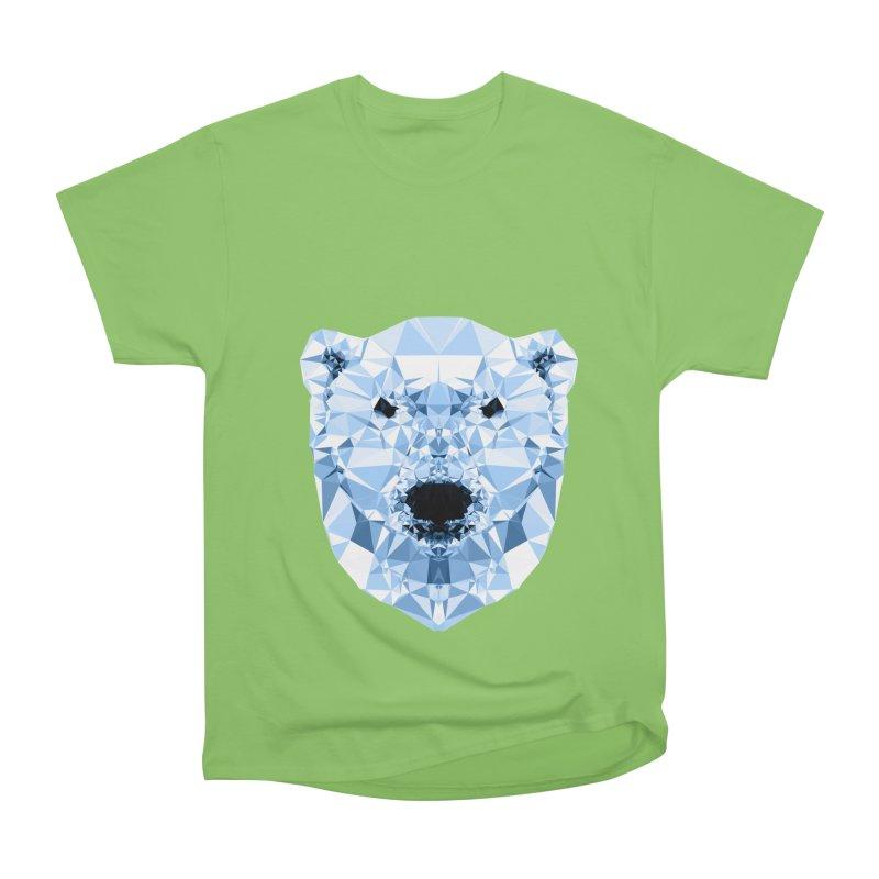 Geometric Polar Bear Women's Heavyweight Unisex T-Shirt by Andreas Lie